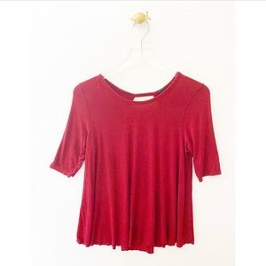 we the free / people back cutout short sleeve top